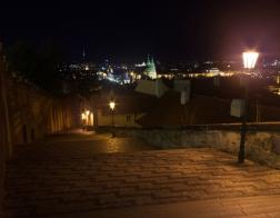Praha v noci - Zámecké schody
