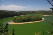 Zřícenina hradu Oheb - výhled na Seč