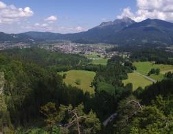 Rakousko - výhled na městečko Reutte