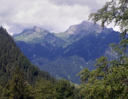 Rakousko - výhled z pevnosti Claudia
