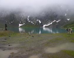 Rakousko - údolí Kaunertal, jezero Weißsee