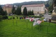 Saské Švýcarsko - společné věšáky na prádlo
