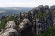 Saské Švýcarsko - panorama z vyhlídky Torstein