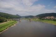 Saské Švýcarsko - most přes Labe v Bad Schandau
