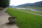 Saské Švýcarsko - v Bad Schandau mají skvělé cyklostezky na břehu Labe