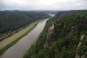 Saské Švýcarsko - výhled na Labe