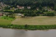 Saské Švýcarsko - cesta k Basteibrücke, výhled na Labe