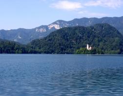 Slovinsko - Bledské jezero a ostrov Blejski Otok s kostelem panny Marie