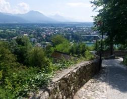 Slovinsko - výhled z Bledského hradu