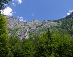 Slovinsko - nedaleko vodopádu Savica