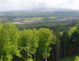 Hrad Valdštejn - výhled z nejvyššího bodu hradu