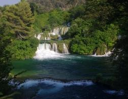 Chorvatsko - vodopád v NP Krka