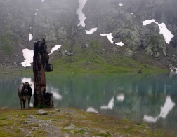 Rakousko - údolí Kaunertal (jezero Weißsee)