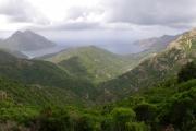 Korsika - výhled na hory a moře