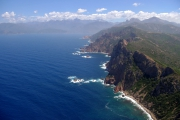 Korsika výhled z Capo Rosso